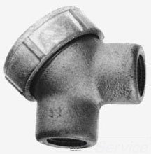 Crouse-Hinds LBY55 Service Entrance Elbow with Cover 1 1/2 In,