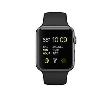 Apple 42mm Smart Watch Space Grey Aluminum Case/Black Band