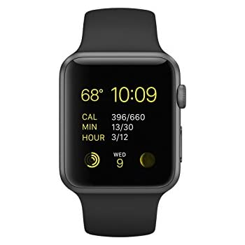 Apple Watch Series 1 42mm Smartwatch Space Gray Aluminum Case/Black Sport Band
