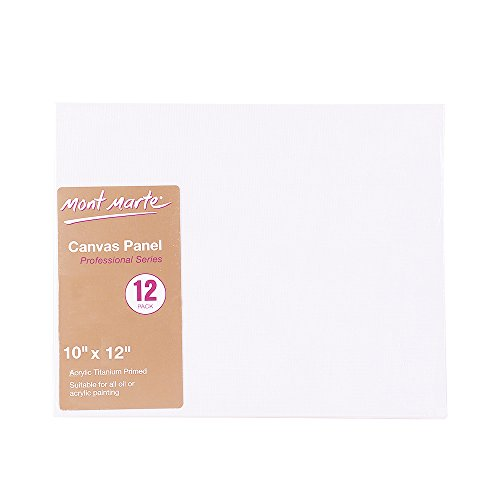Mont Marte 10x12-Inch Canvas Panel (Pack of 12)