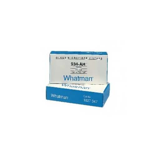 Whatman 1827047-DS Glass Microfiber Binder Free Filter, 1.5 Micron, 3.7 s/100mL Flow Rate, Grade 934-AH, 47 mm Diameter (Pack of 100) by Whatman
