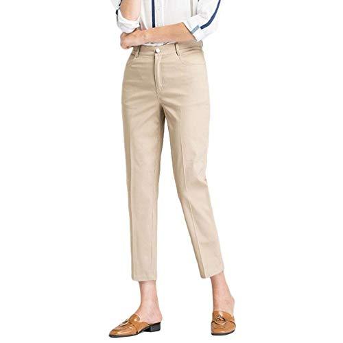 Khaki Convenzionali Coreana Di Eleganti Dei Pantaloni Giovane A Estate Matita Moda Della Alta Vita Colore Alla Casuali Tagliati Solido vOnSqUxng