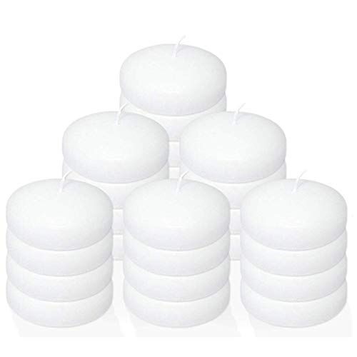 Stock Your Home 10 Hour Burning White Unscented Classic Floating Candles for Weddings, Parties, Special Occasions and…