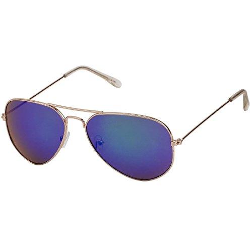 Rahmen hombre gold sol de area17 verspiegelt blau Gläser Gafas 07 para qYgppw