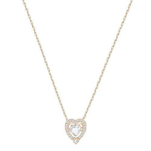 Swarovski Jewelry Rose-Gold Tone White Sparkling Dance Heart Necklace from SWAROVSKI