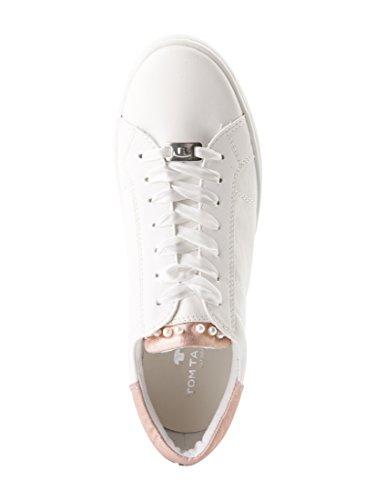 Tom Tailor Per Le Donne Scarpe Sneaker In Scintillante Bianco Ottico