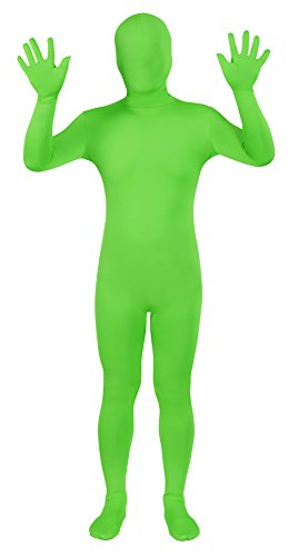 Sheface Spandex Full Bodysuit Greenman Zentai Costume (XX-Large, Lime Green)