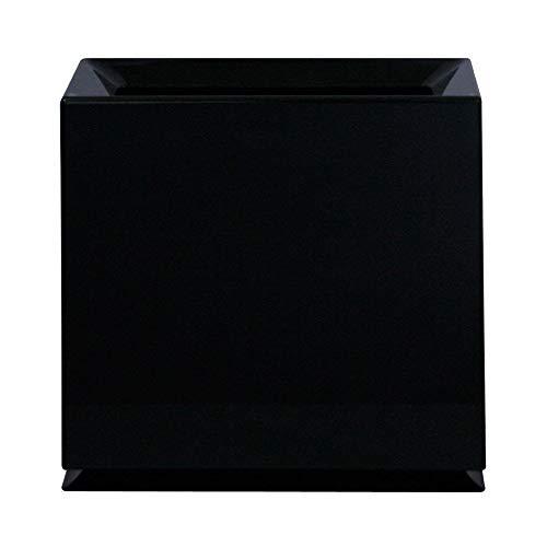 Designer Rectangular Bin - Ideaco TUBELOR Brick Designer Rectangular Waste Bin, Conceals Any Plastic Bag 2.3 Gal, Gloss Black