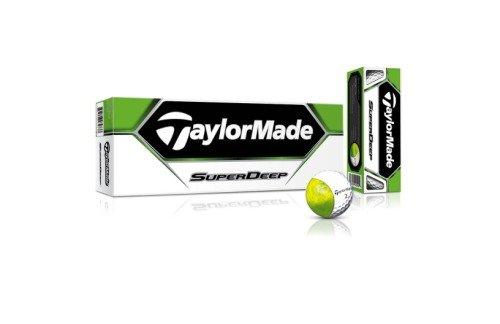 TaylorMade SuperDeep Golf Ball (Pack of 12), Outdoor Stuffs