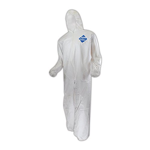 Kimberly-Clark 44327 KleenGuard A40 Liquid & Particle Protection Coverall with Hood, 2XL, White, 4XL (Pack of 25) by Kimberly-Clark (Image #3)