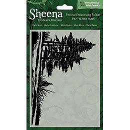 Crafter's Companion Sheena Douglass 5''X7'' Christmas Folder - Winter Trees, Clear SD-XEF-WTREE