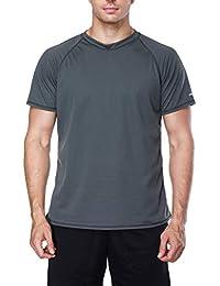 4e44f5989c Mens Swim Shirt Quick-Dry Water Shirts Sun Protection Swimming Tee Rash  Guard