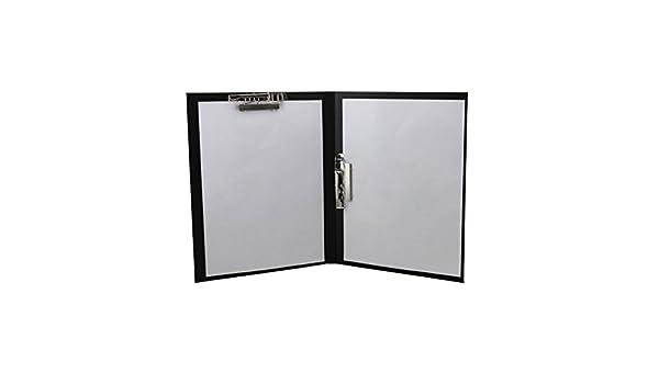 Irinay - Expositor de papeles de piel A4 con cierre de hojas para carpeta de documentos, color negro Size: Amazon.es: Oficina y papelería