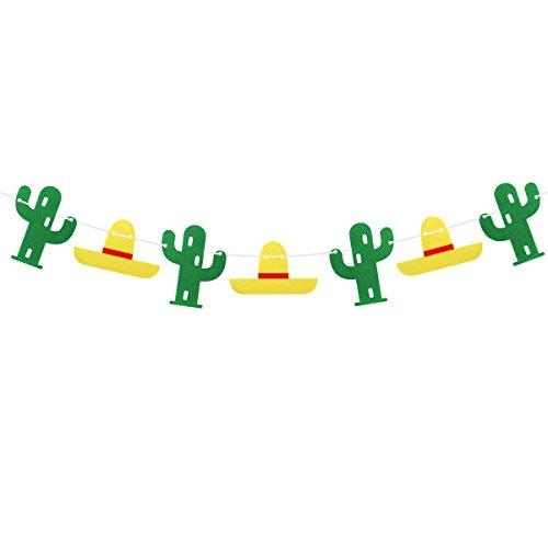 Cinco De Mayo Decorations Ideas - OULII Fiesta Cactus Banners Luau Hawaii