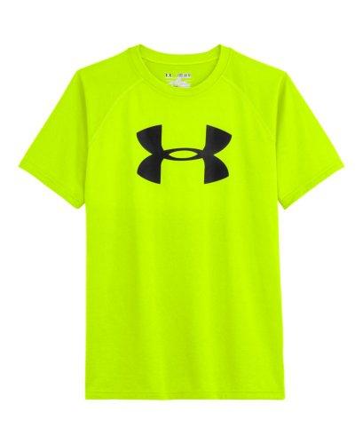 Under Armour Big Boys' UA Big Logo T-Shirt Youth Medium High-Vis Yellow