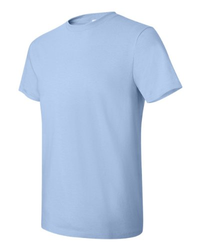 Hanes Herren Asymmetrischer T-Shirt Blau Hellblau xl