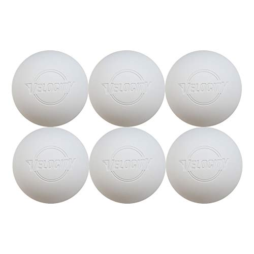 6 Pack of Velocity Lacrosse Balls for Adults & Kids: Official Size for Professional, College & High School. NOCSAE, NCAA, NFHS Certified & Officially Licensed. - Color White.