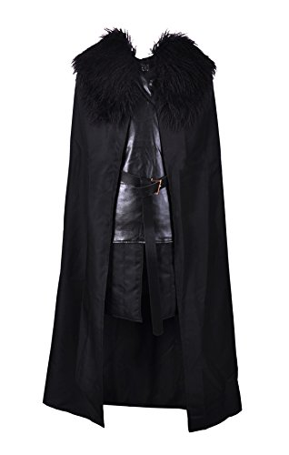 1stvital Jon Snow Knights Watch Cosplay Halloween Costume Cape Outfit Men's XX-Large (Cheap Halloween Costumes Male)