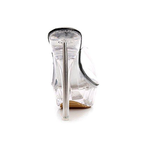 MRNS Heels High Slippers Luxury A0041 Sexy New Dress 3 Transparent Party Pumps Loft tvZRRaqEw