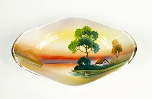 Vintage Noritake Serving Dish plate Hand Painted Made in Japan china bone porcelain
