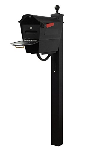 Special Lite Products Company Town Square Curbside Mailbox With Newspaper Tube, Locking Insert And Springfield Mailbox Post