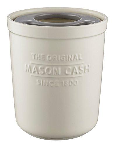 Mason Cash Innovative Kitchen Stoneware Utensil Pot, 1.8L, White 28496