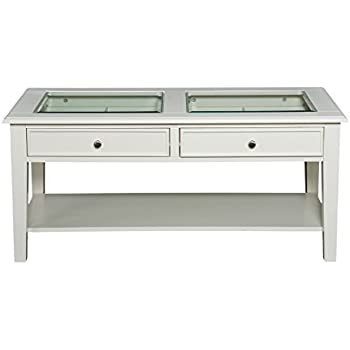 Southern Enterprises Panorama Cocktail Table, Off-White Finish