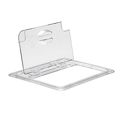 - Cambro 20CWLN135 Clear Camwear Half Size Notched Food Pan FlipLid