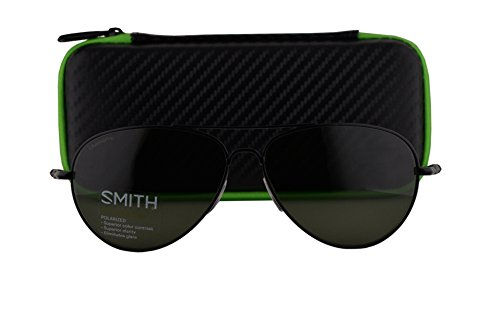 Smith Audible Sunglasses Matte Black w/Polarized ChromaPop Gray Green Lens - Sunglasses Smith Dolen