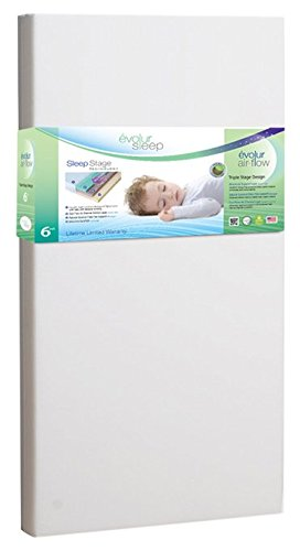 Evolur Sleep Triple Stage Air Flow with Natural Coconut Fiber, White Dream on Me EV851
