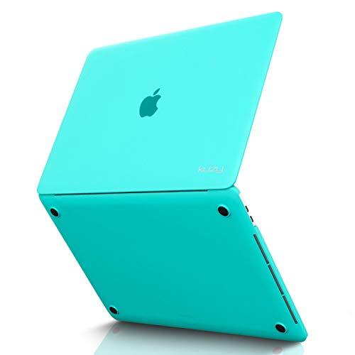 Kuzy - MacBook Pro 15 Case, A1990 & A1707 (NEWEST Release 2018 & 2017 & 2016) with Touch Bar & Touch ID Rubberized Hard Case Shell Cover 15-inch - TEAL BLUE