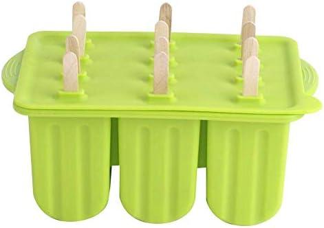 Siliconen ijsvorm 12grids Food Grade siliconen ijsvormmaker Gereedschap met deksel IJsstokjes 87 x 53 x 37 inchGroen