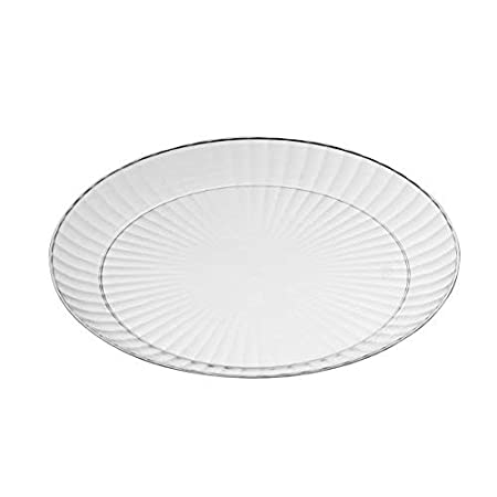 """Pack of 20 Mashers 7/"""" Crystal Effect Clear Plastic Disposable Party Side Plates 7 Plates"""