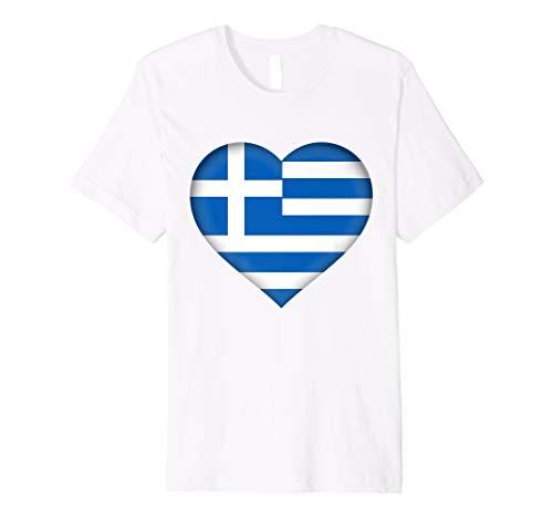 I Love Greece T-Shirt   Greek Flag Heart -