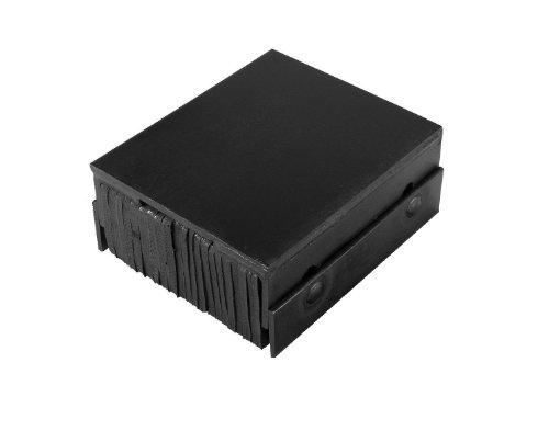 IRONguard-Steel-Faced-Rubber-Dock-Bumper-Rectangular-Laminated-Horizontal-Mount-Flat-Plate-Both-Sides-12-Length-14-Width-4-Depth