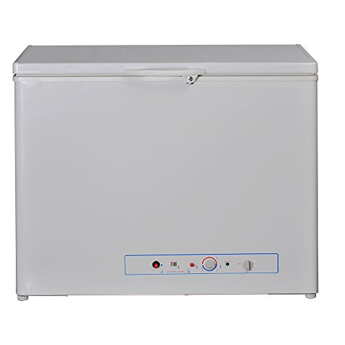 SMETA Chest Freezer 110v/Gas Propane Absorption Top Open freezer for Camper Home RV,5.7 Cu ft,White