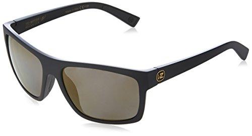(VonZipper Unisex Speedtuck Polar Black Satin/Gold Glo Poly Polar Sunglasses)