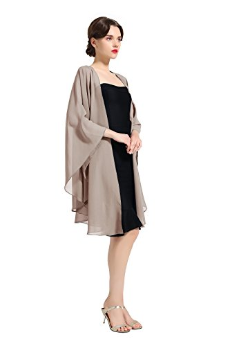 Shawl Wrap Chiffon Scarf For Women Evening Dresses Wedding Stole Khaki by BEAUTELICATE (Clothing Khaki Accessories Womens :)