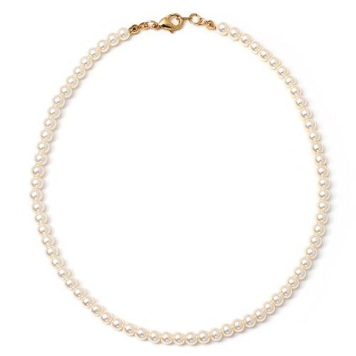 - Topwholesalejewel Cream Pearl Single Row Strand Necklace