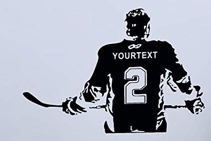Hockey Player Decal - USA Decals4You | Sport Wall Decals Hockey Player Personalized Custom Name Decor Stickers Vinyl MK0584