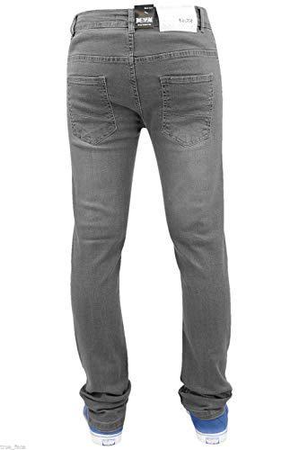 Cerniera Slim Jeans In Cotone Mens Fit G 72 Grey Elasticizzati Skinny Pantaloni qCptE