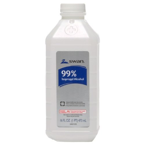 Swan 99 Percent Isopropyl Alcohol Antiseptic Solution, 16 Ounce (Pack of 2)