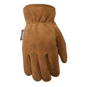 Wells Lamont Leather Work Gloves, Insulated Split Cowhide, Medium (1063M)