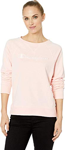 Champion Women's Heritage French Terry Crew, Primer Pink Small