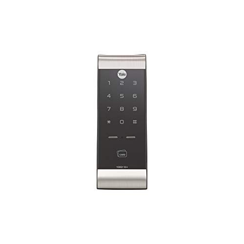 Yale YDR 3110 Smart Door Lock with Pin & Card Access, WiFi Optional, Color- Silver/Black(Free Installation)