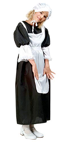 RG Costumes Pilgrim Girl Costume, Black/White, Large ()