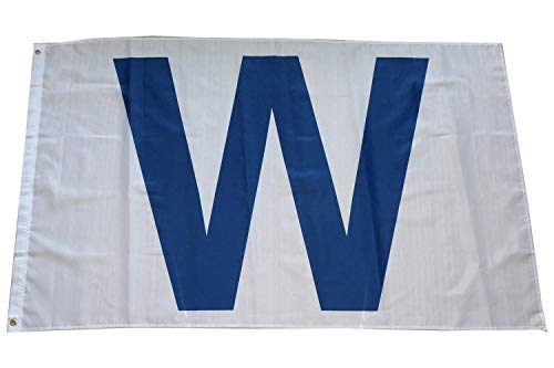 3x5 Feet Chicago Cubs White 'W' Win Flag - UV Protected for sale  Delivered anywhere in USA