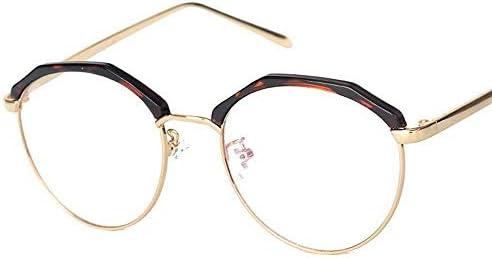 H54eru1z 金属フレーム眼鏡レトロレトロ古典的な半透明のレンズメガネフレームホーンエッジ 6awa23z (Color : Leopard)
