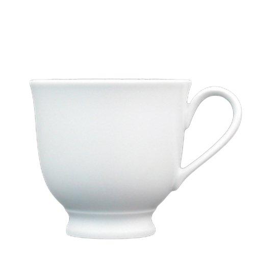 (Fortessa Fortaluxe Superwhite Vitrified China Dinnerware, Cassia 7-Ounce Pedestal Coffee/Tea Cup, Set of 6)