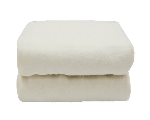 Tadpoles Set of 2 Organic Cradle Fitted Sheets, White